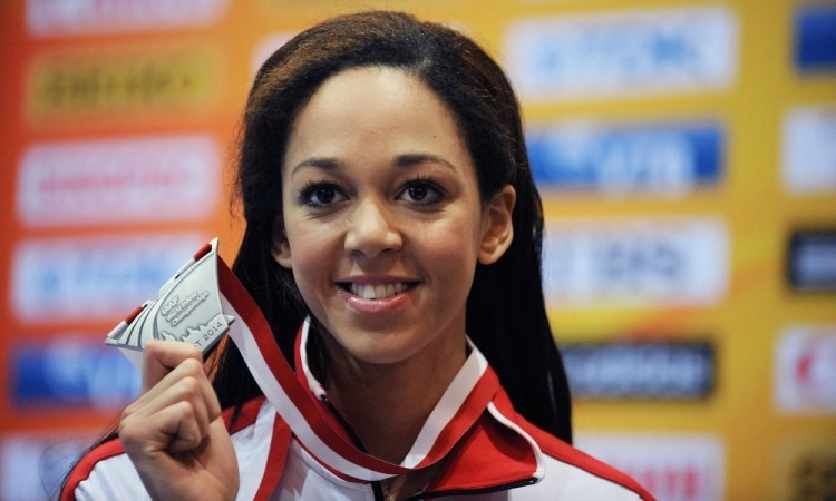 Katarina Johnson-Thompson Sopot 2014 long jump silver (Credit: Mark Shearman)