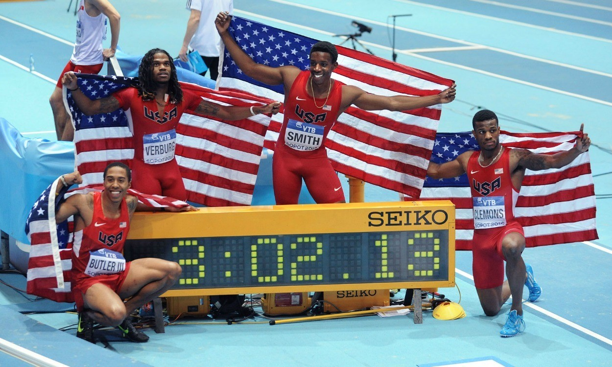 USA break world indoor relay record in Sopot
