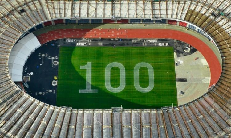 Hampden Park 100 days to go infield (Credit: Glasgow 2014)