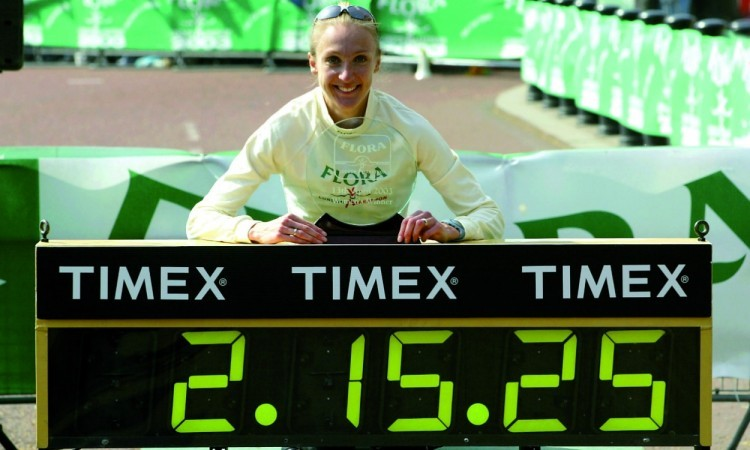 Paula Radcliffe WR London Marathon 2003 (Credit: Mark Shearman)