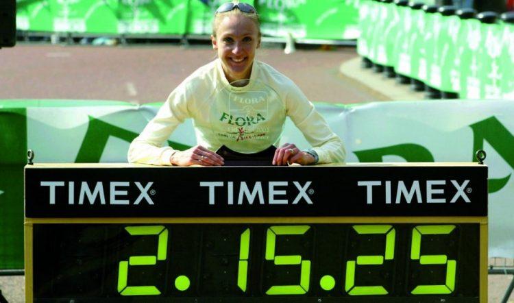 Paula Radcliffe WR London Marathon 2003 (Credit: Mark Shearman)