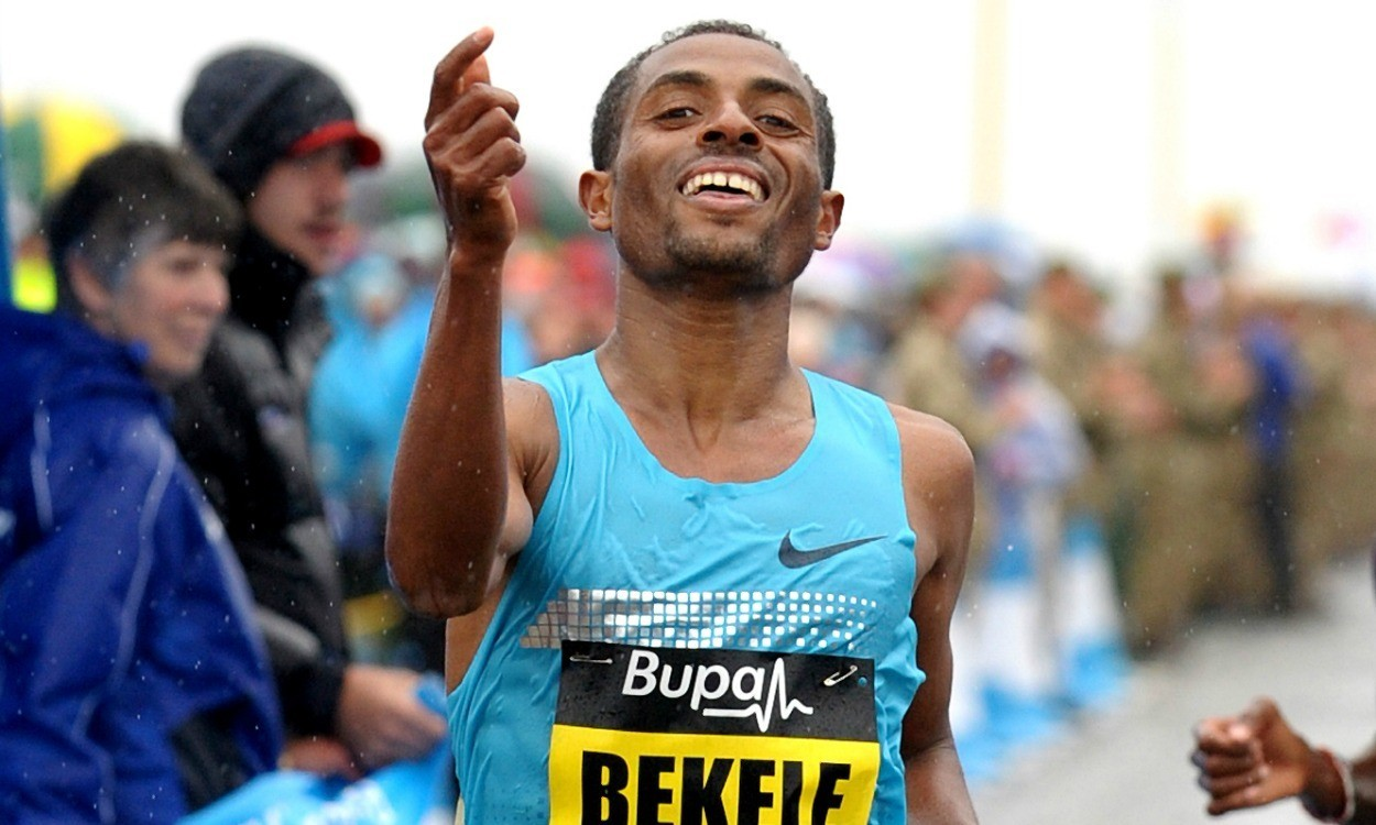 Bekele, Kipsang and Dibaba in Great Manchester Run action