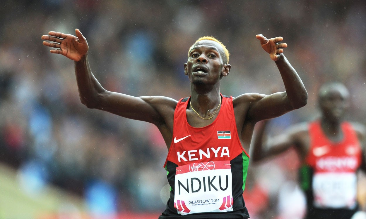 Caleb Ndiku storms to 5000m gold in Glasgow