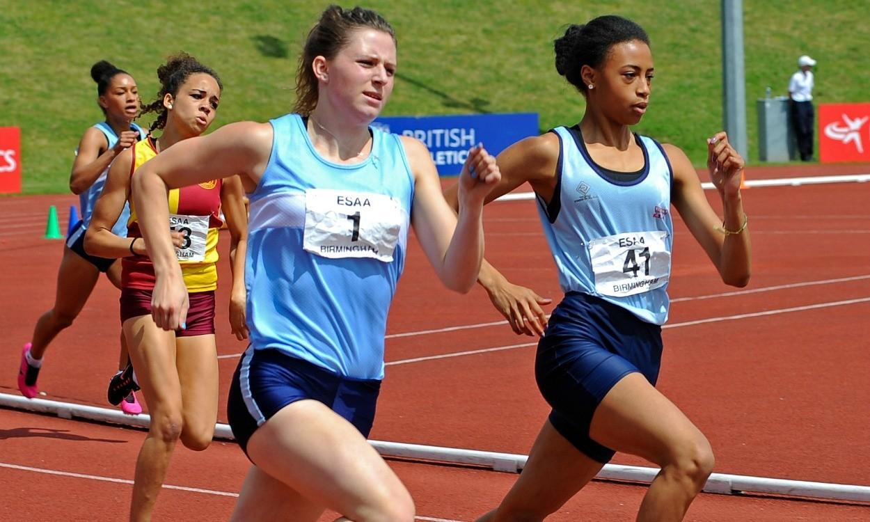 Video: English Schools senior girls 400m