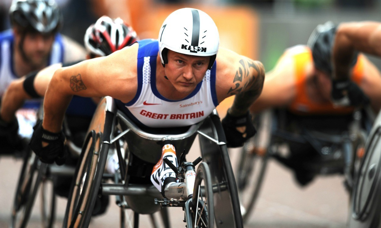 David Weir and Jonnie Peacock in GB IPC European Champs team