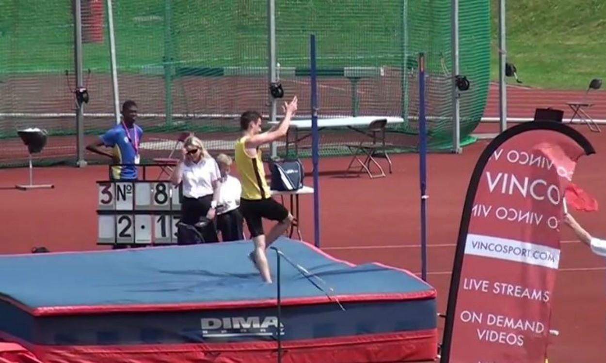 Video: English Schools inter boys high jump