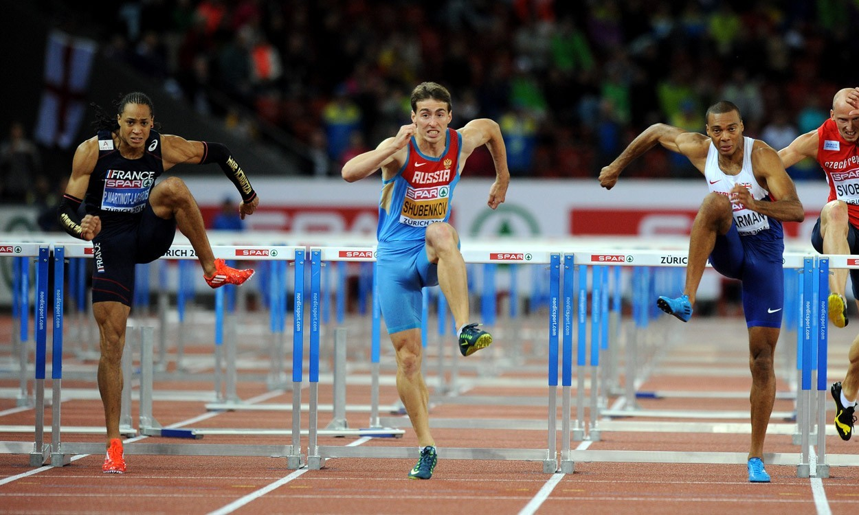 Shubenkov retains European hurdles title as Sharman surges to silver