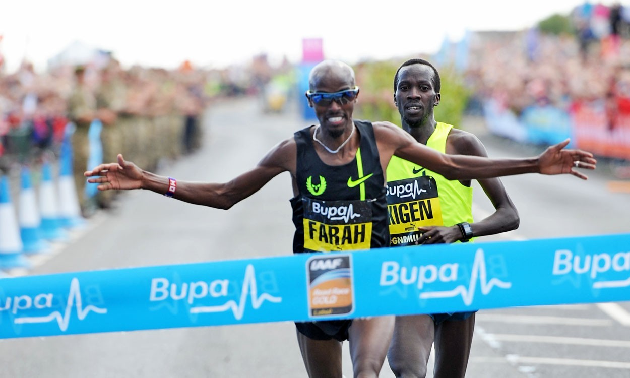Mo Farah runs British best, Mary Keitany clocks CR at Great North Run