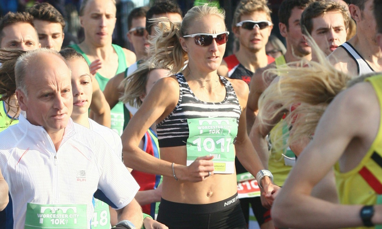 Paula Radcliffe third on road return