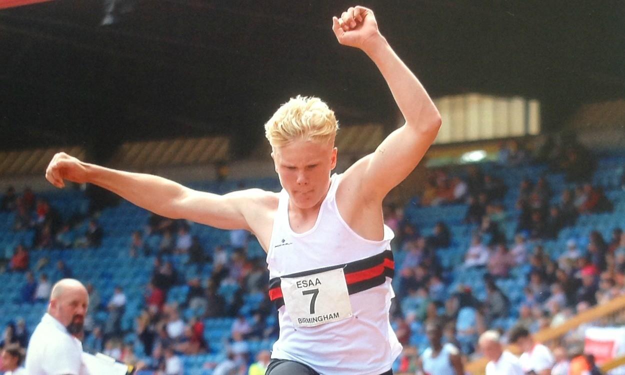 Ben Harris jumping for joy