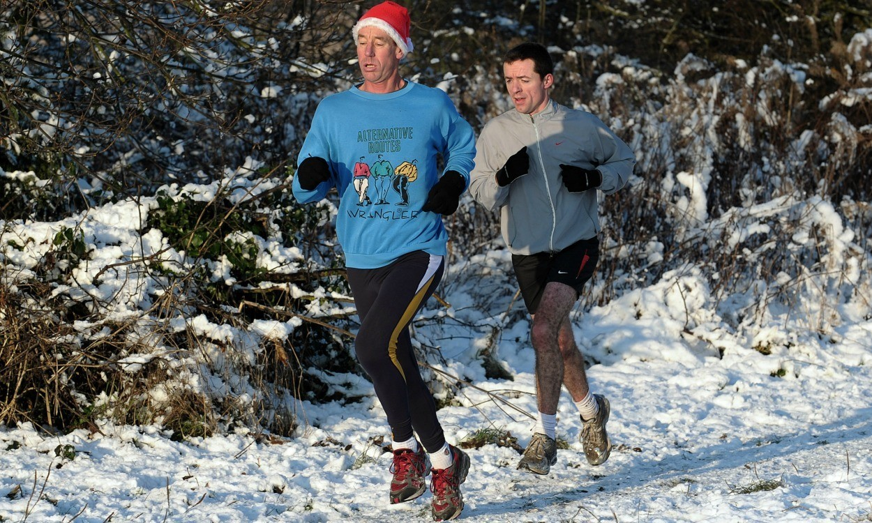 Christmas training: Eat, drink and run!