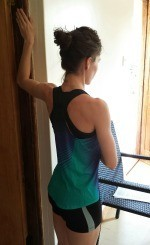 The classic door-jam exercise which targets different parts of the   pectoralis muscles