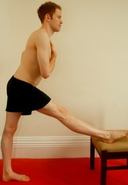 The basic hamstring stretch using good posture