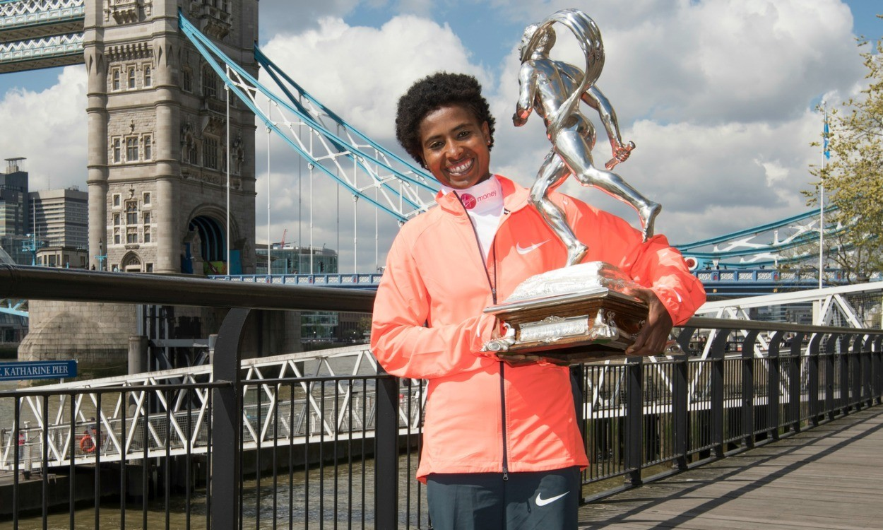 Tigist Tufa to put family first after big payday at London Marathon