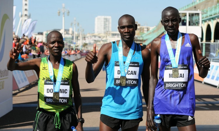 Brighton Marathon men's top three