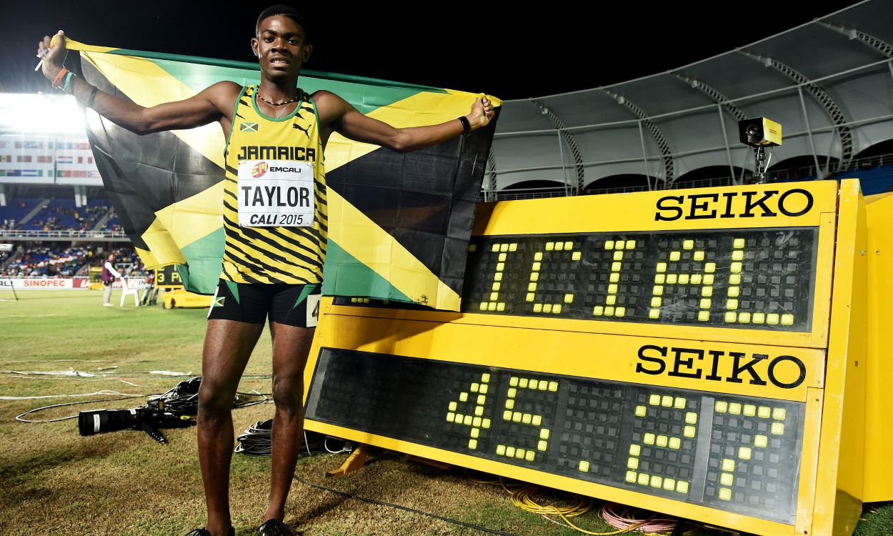 Gold for Jamaica's Taylor and bronze for GB's Reid at World Youths