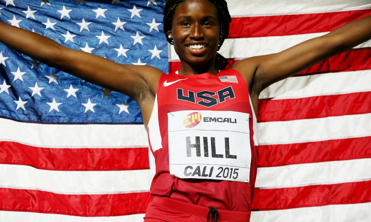 Candace Hill breaks 200m world youth best in Cali