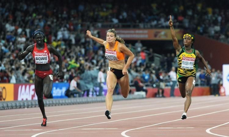 100m women finish