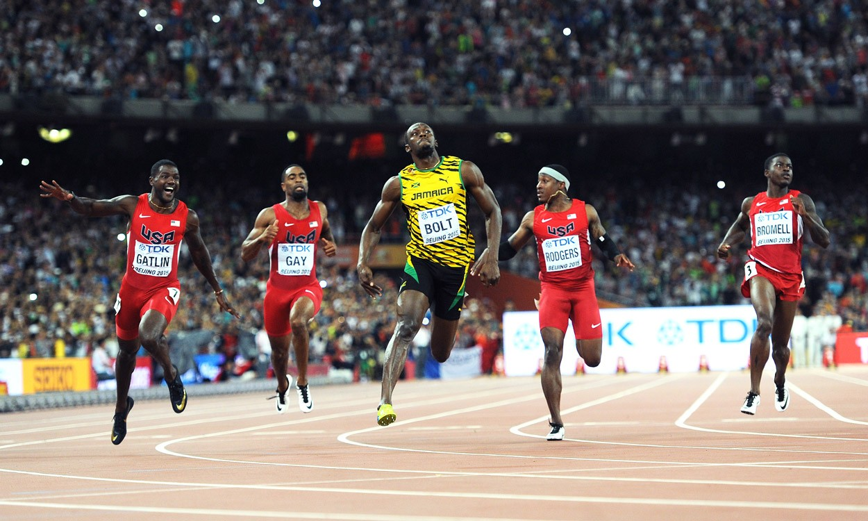 Bolt pips Gatlin in the World Championships 100m in Beijing