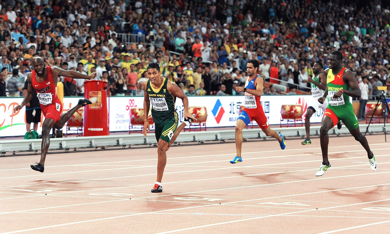 Van Niekerk's 43.48 in Beijing puts him high on all-time list