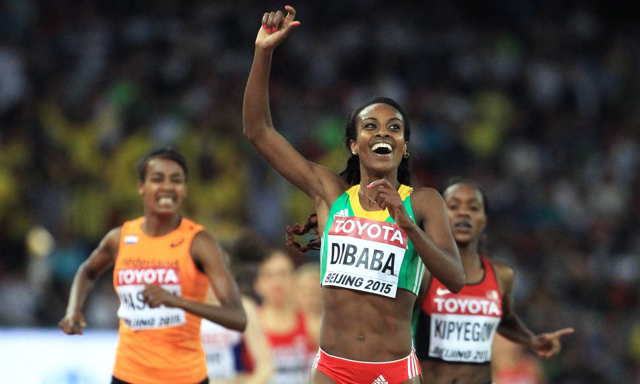 Genzebe Dibaba breaks world indoor mile record in Stockholm