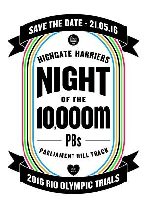 Highgate Harriers Night of the 10,000m PBs 2016