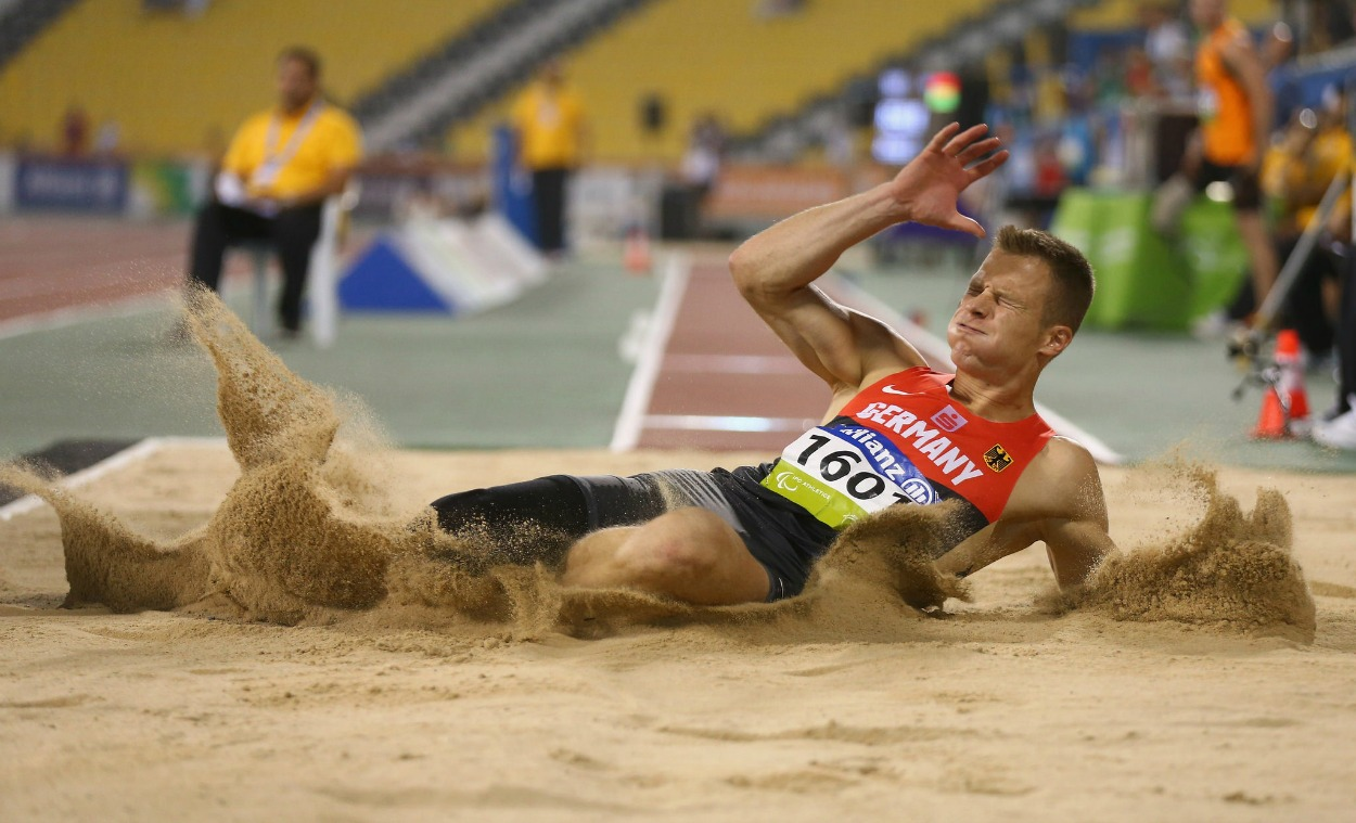 Markus Rehm leaps record-breaking 8.40m to win long jump gold in Doha