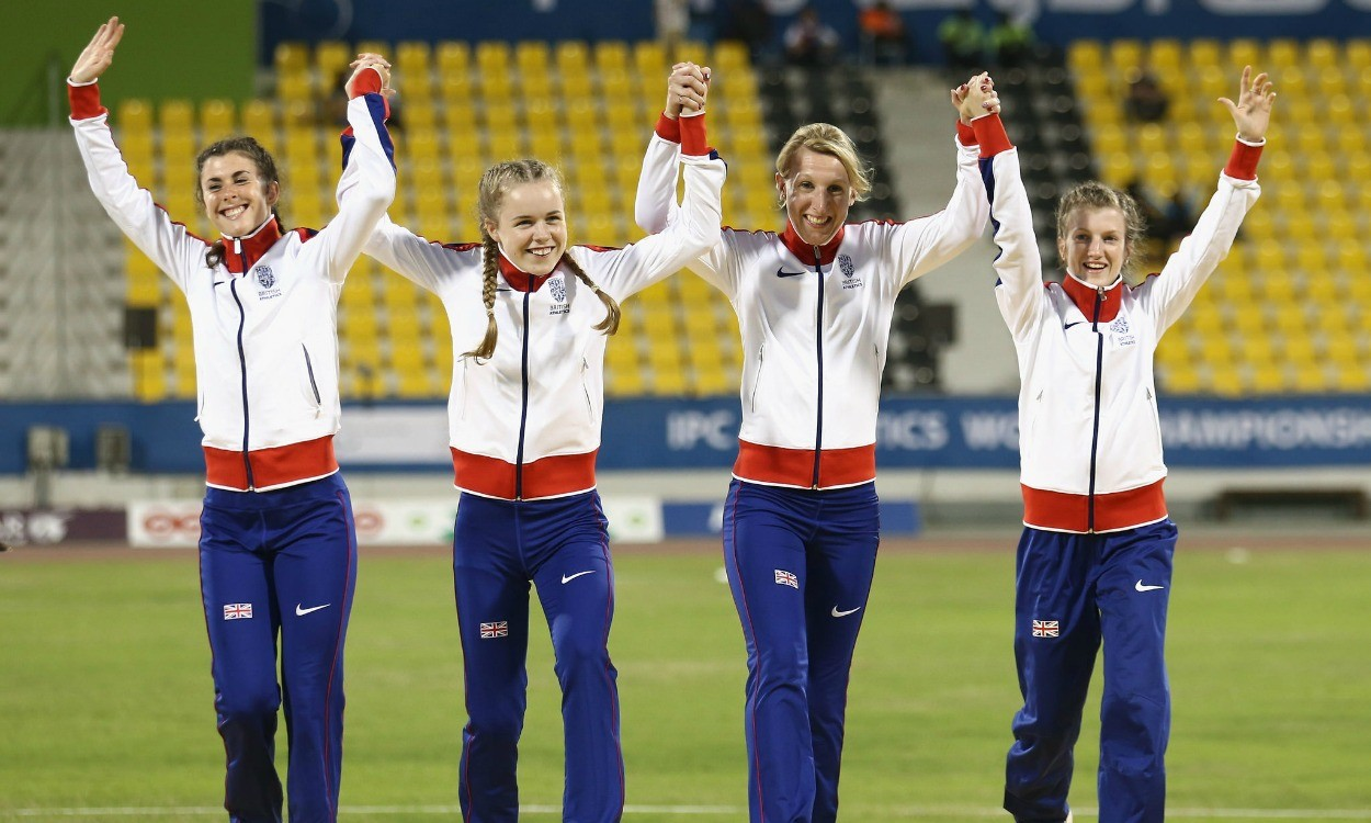 GB team breaks sprint relay record in Doha