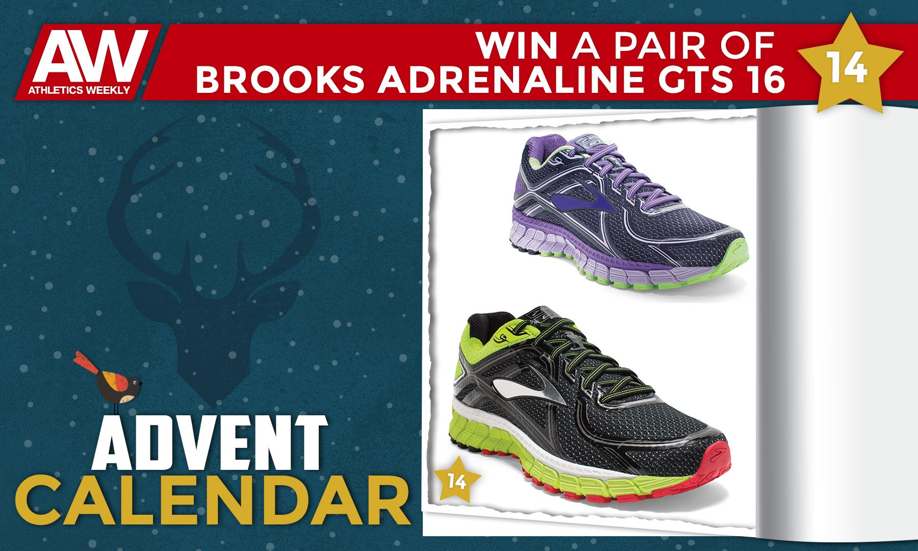 Win a pair of Brooks Adrenaline GTS 16