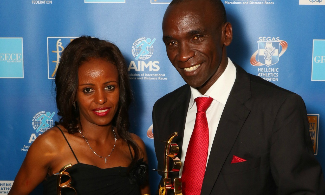 Mare Dibaba and Eliud Kipchoge win AIMS best marathon runner awards