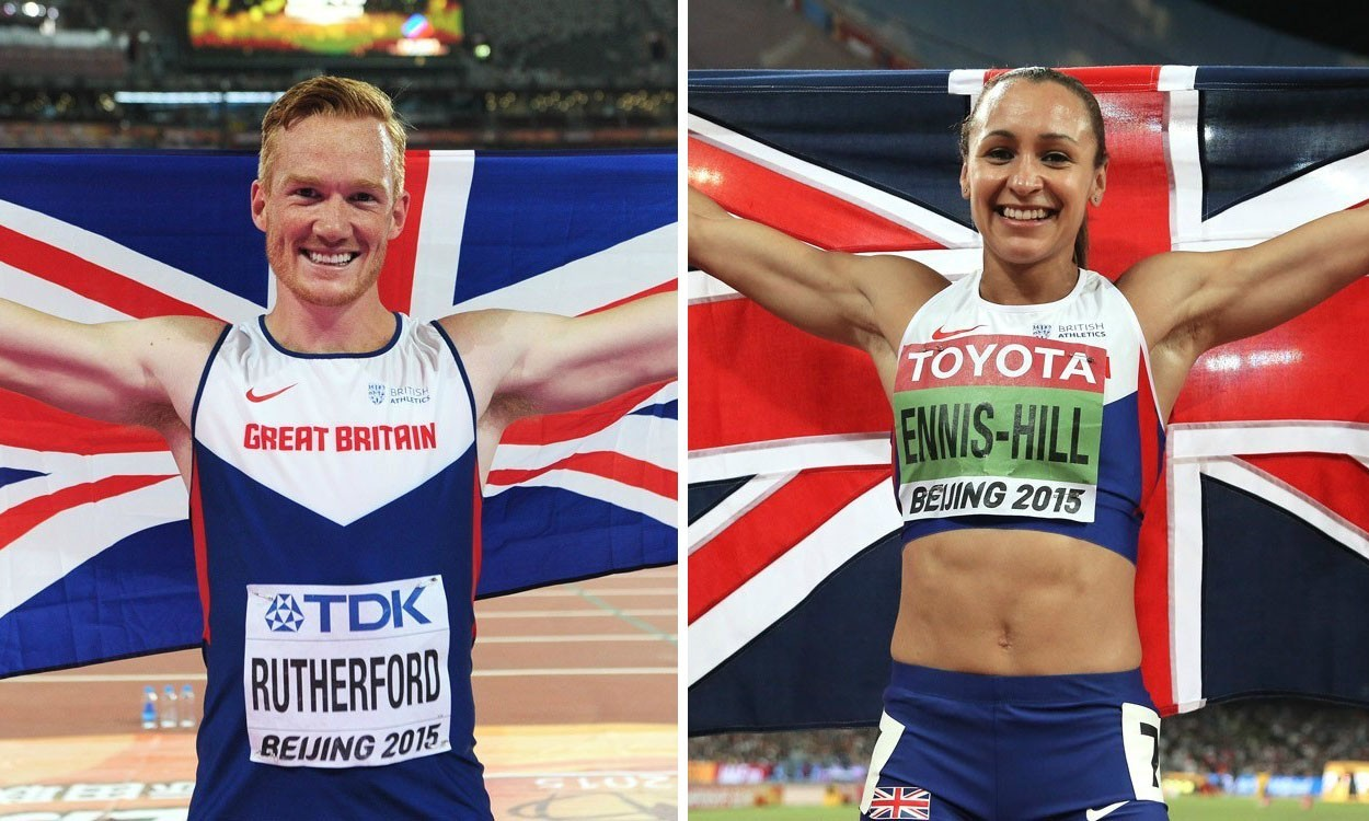 Greg Rutherford and Jessica Ennis-Hill win BAWA awards
