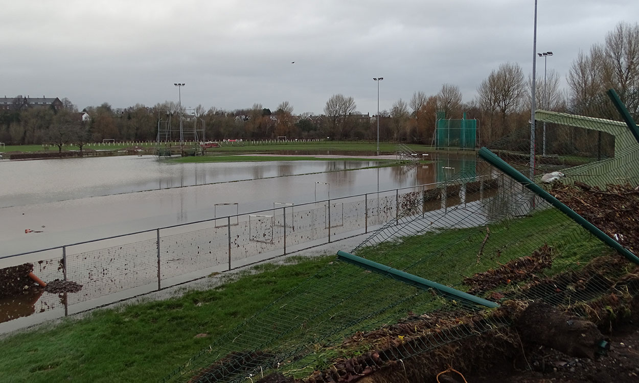 Carlisle's Sheepmount Stadium hit hard by Storm Desmond