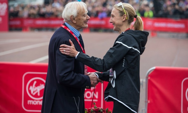 John Disley and Paula Radcliffe