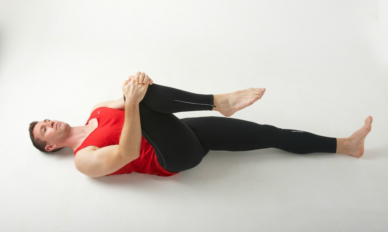 Post-training hip stretch sequence