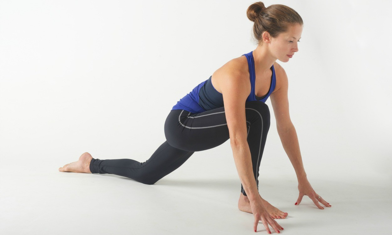 Lunge hip stretch
