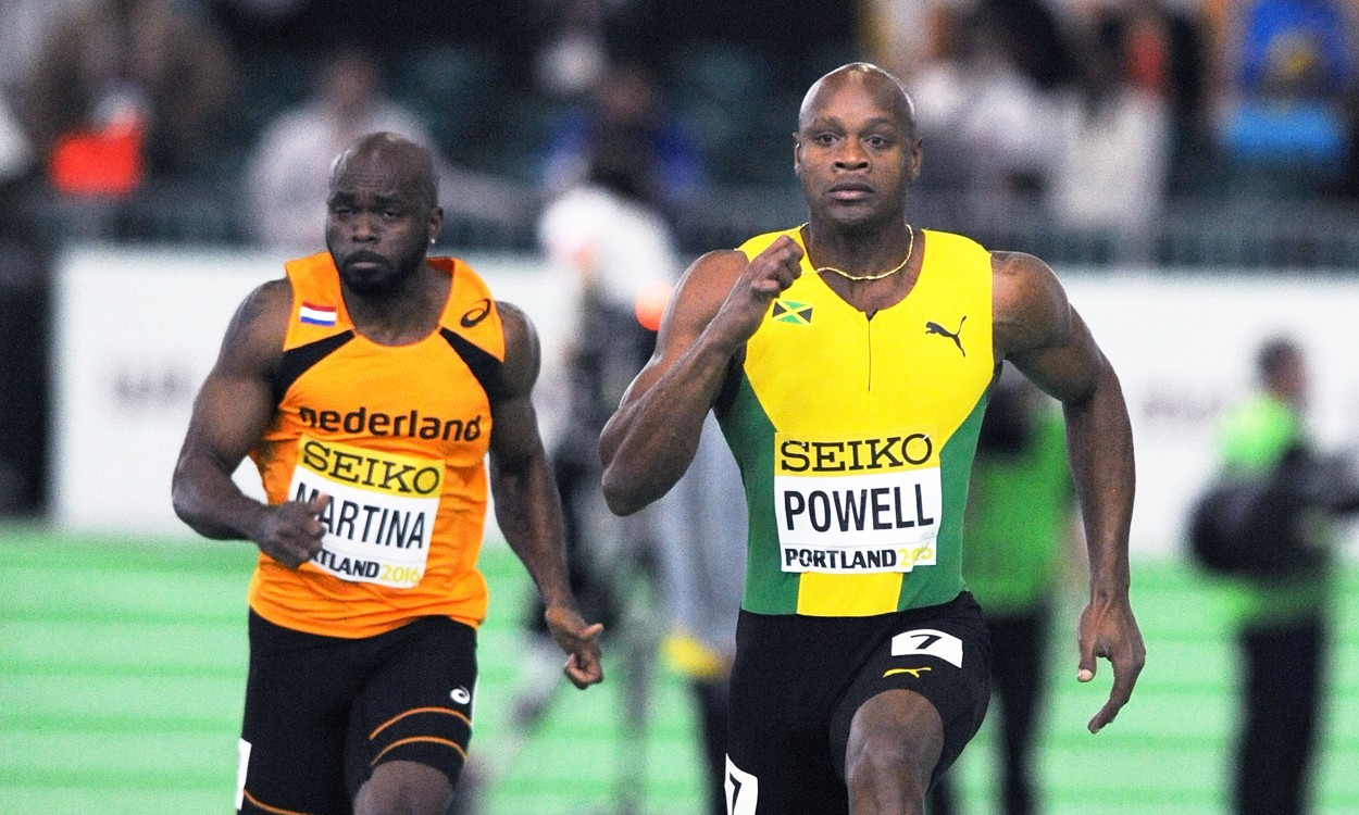 Asafa Powell close to 60m world record in Portland