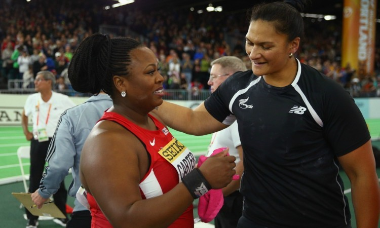 michelle carter valerie adams Ian WaltonGetty Images for IAAF