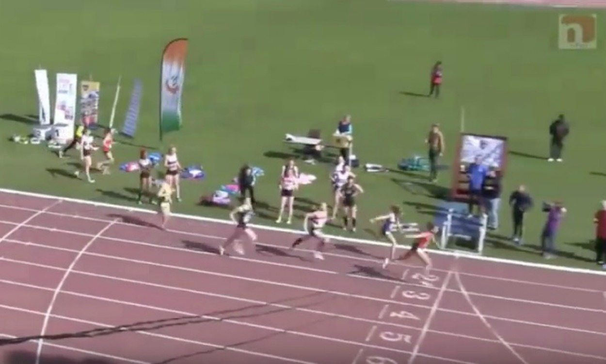 Irish runner Phil Healy in superb 4x400m relay sprint