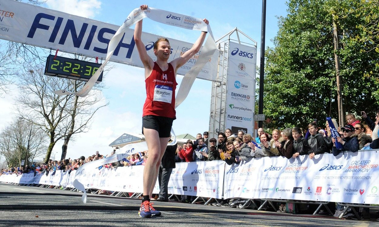Steven Bayton and Kelly Crickmore win Greater Manchester Marathon