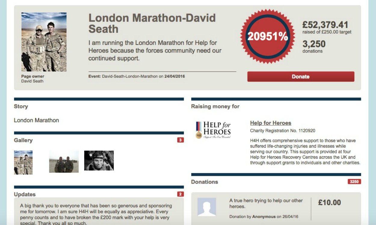 Tributes paid to London Marathon runner David Seath