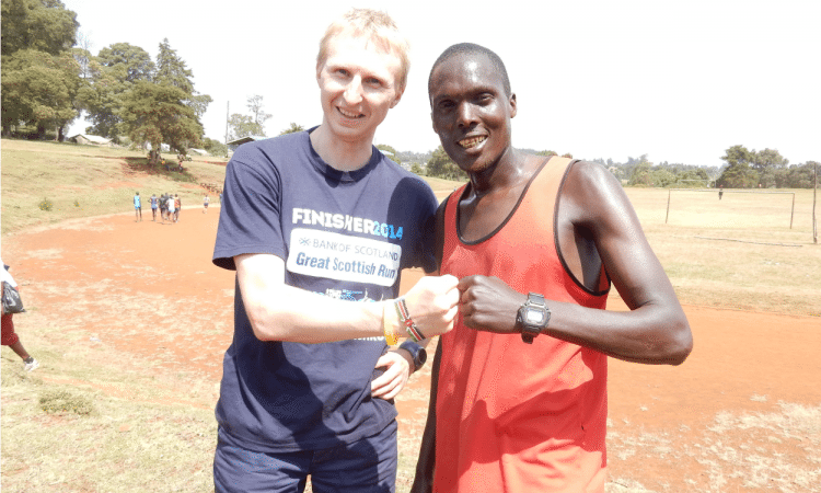 Colin and Kemboi by Colin Thomas