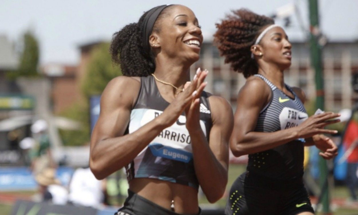Keni Harrison breaks American 100m hurdles record at Prefontaine Classic