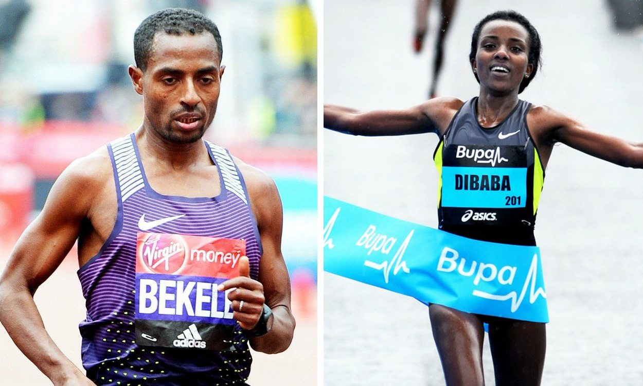 Kenenisa Bekele and Tirunesh Dibaba get set for Great Manchester Run
