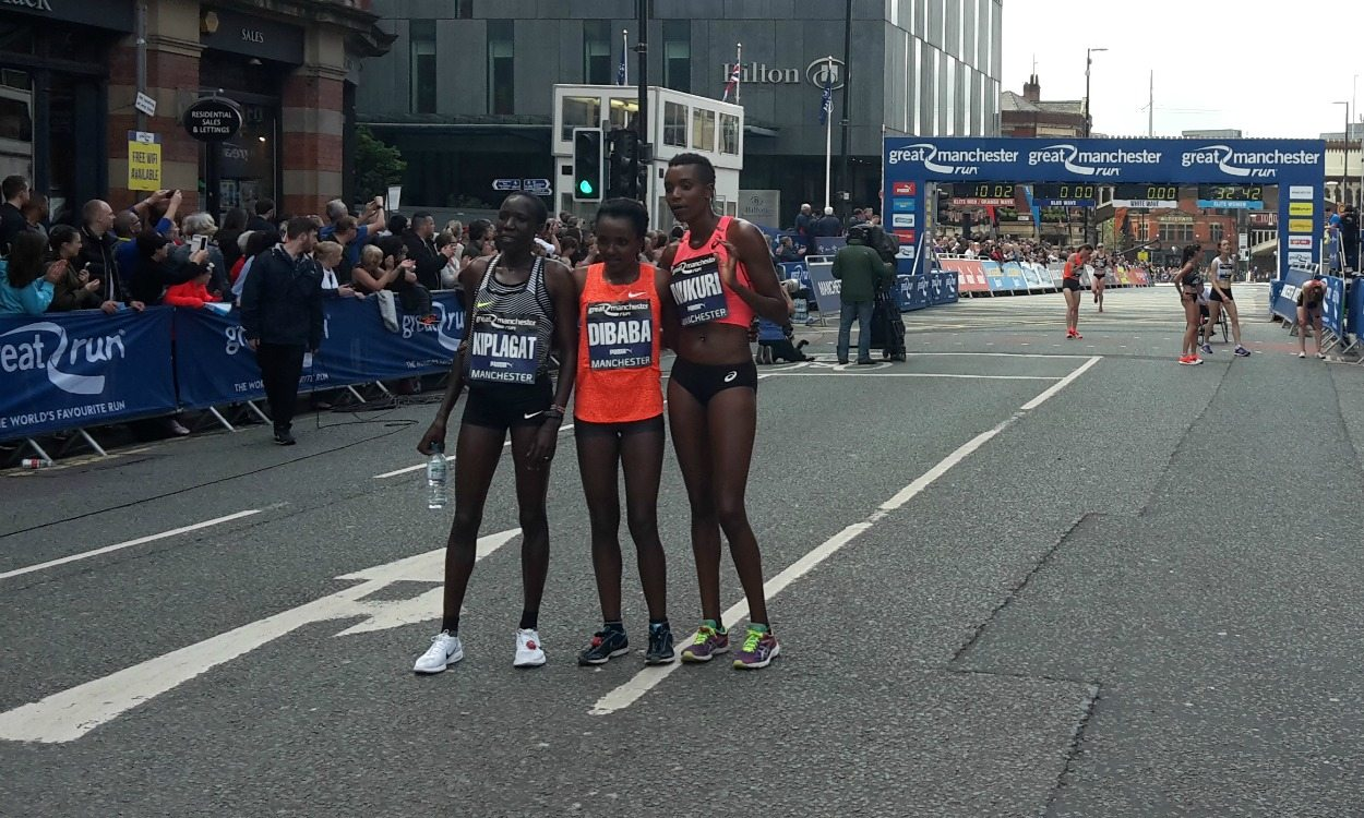 Tirunesh Dibaba and Kenenisa Bekele win Great Manchester Run