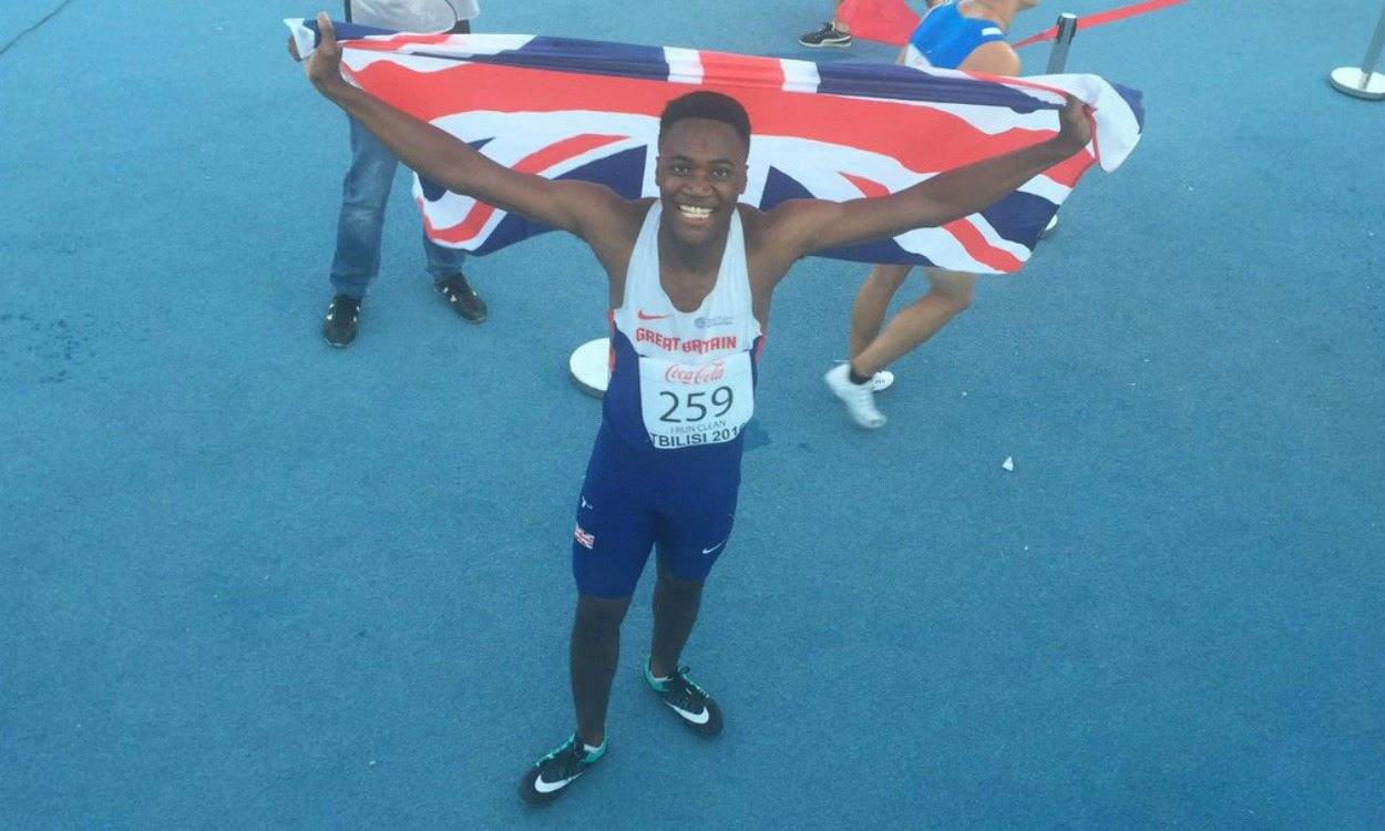 Jona Efoloko wins 200m gold at European Youth Championships