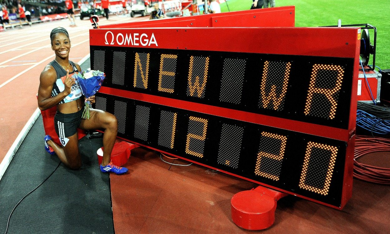 Kendra Harrison breaks world 100m hurdles record in London