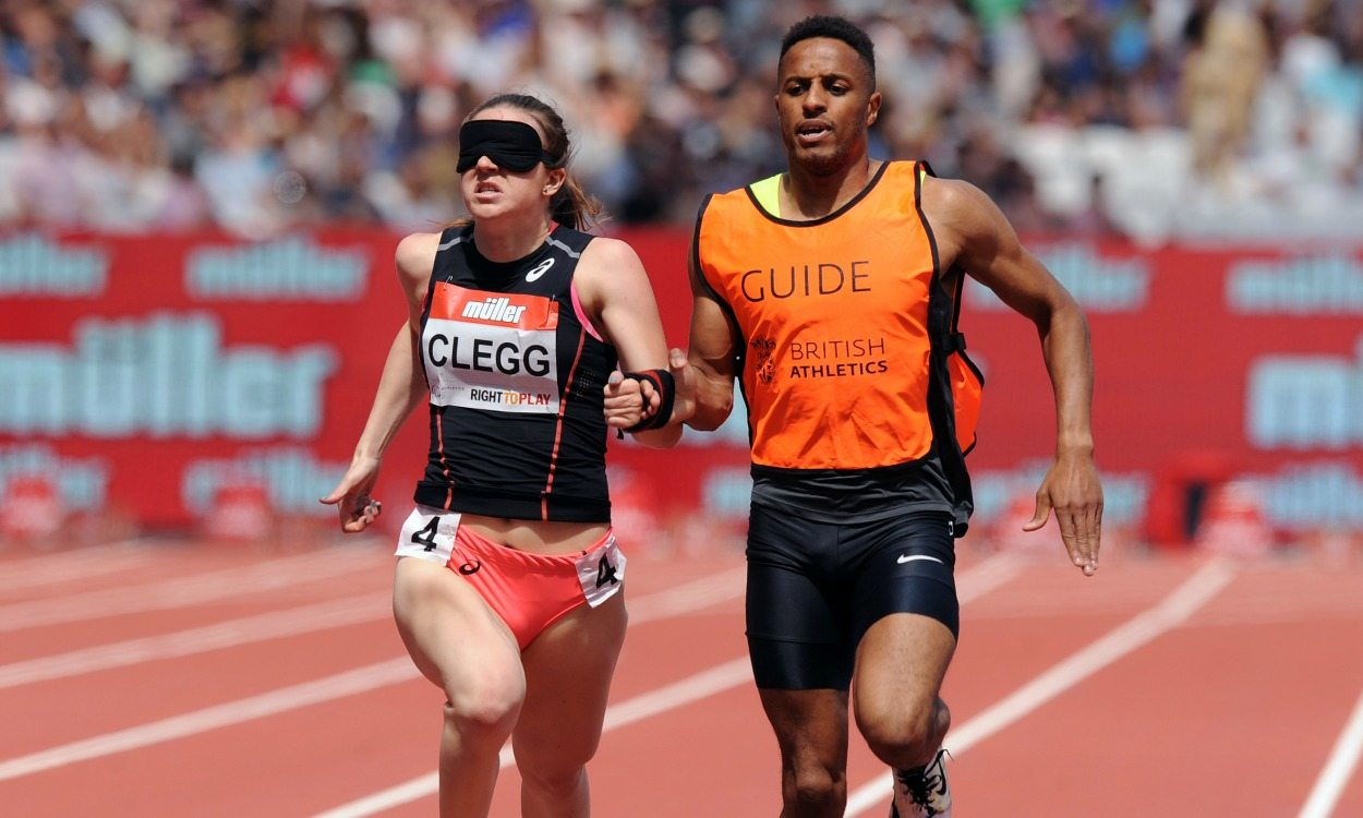 Libby Clegg and Richard Whitehead break world records in London