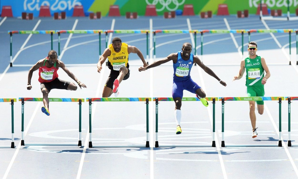 Kerron Clement claims 400m hurdles title in Rio