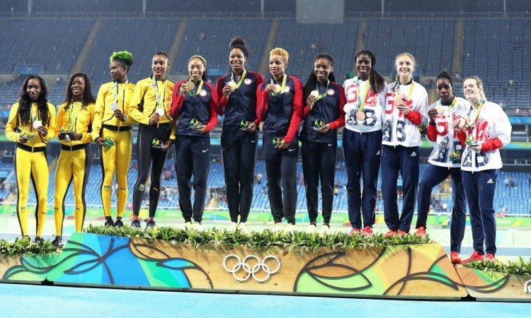 4x400 women podium rio 2016