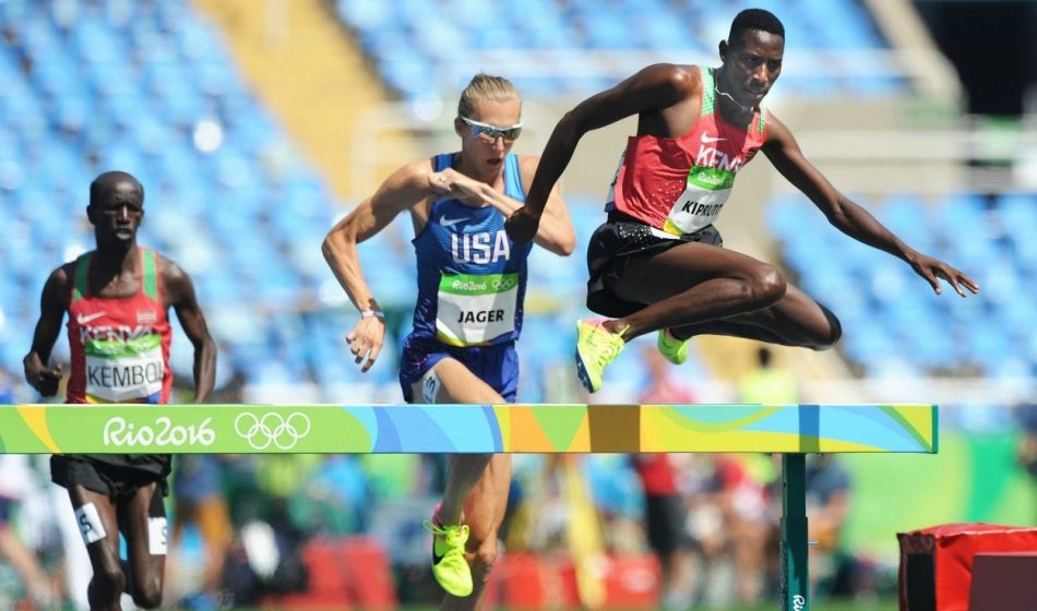Conseslus Kipruto takes Olympic steeplechase title in record time